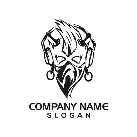 Punk audio logo icon template