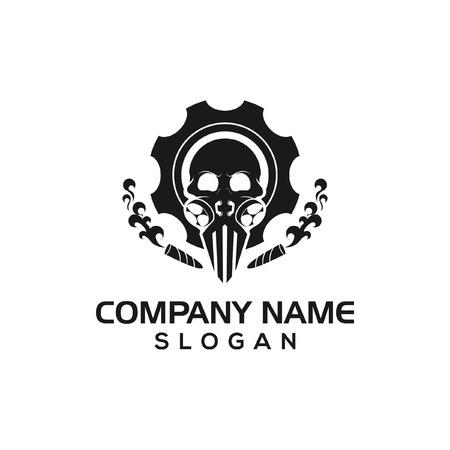 Skull gear logo icon template Stock Illustratie
