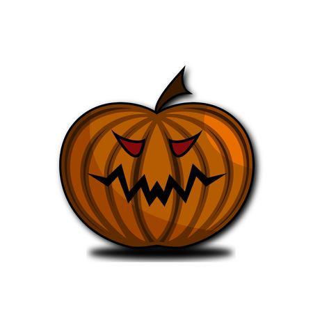 Spooky pumpkin design for helloween attributes