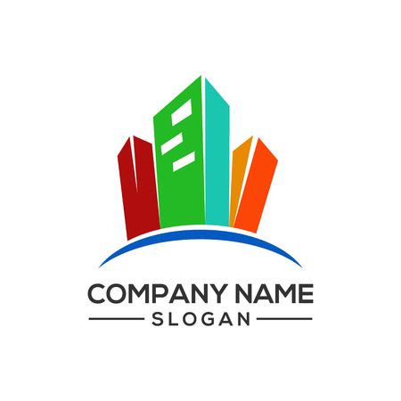 Design modern building logo templates for real estate companies and more construction businesses.