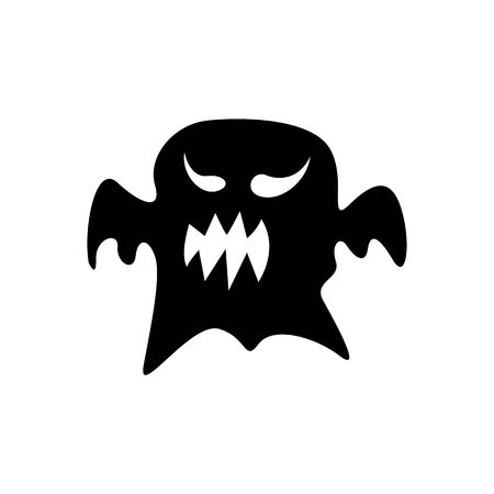 Halloween ghost design, a simple but spooky ghost silhouette for the attributes of halloween