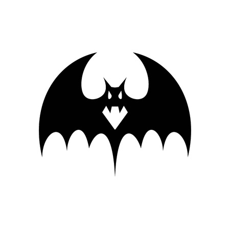 Spooky bats, Bat vampires are simple but spooky silhouettes for the attributes of halloween