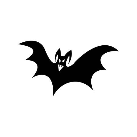 Ghost vampire, the ghostly and spooky silhouette of bat to attribute to halloween