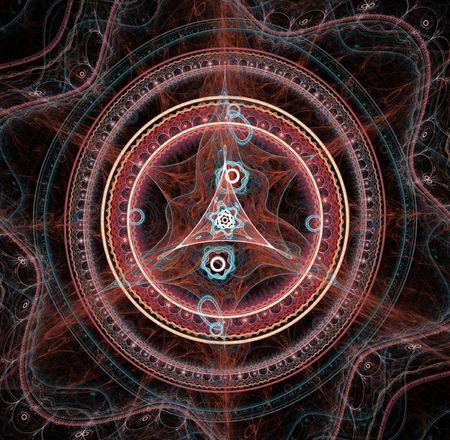 ber: Magic fractal circle Stock Photo