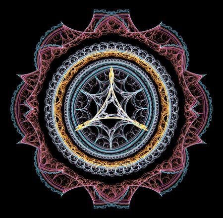 ber: Magic fractal space circle