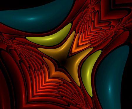 ber: Plastic colored fractal hole