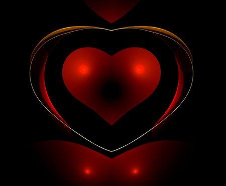ber: Dark red Heart Stock Photo