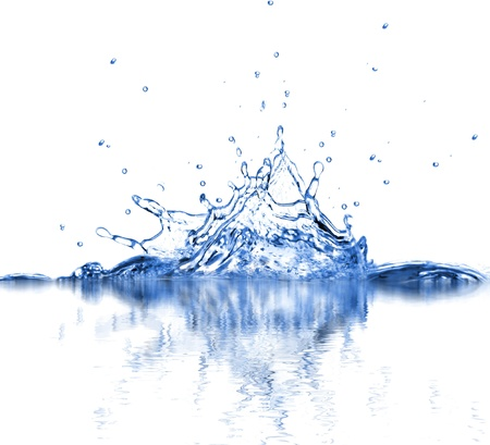 Water splash isolated on white background Stock Photo - 12573696