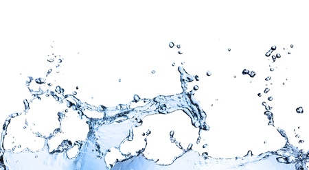 splashed: Water waves, isolated on white background Stock Photo