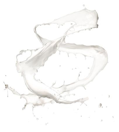 Milk splash, isolated on white background Stock Photo