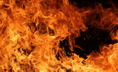 Fire background Stock Photo - 12574423