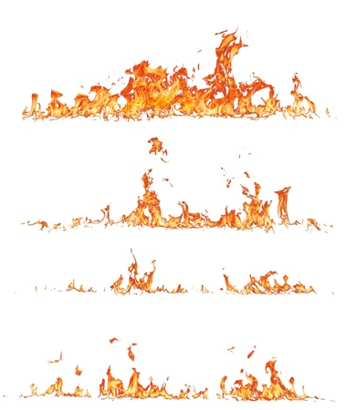 hell fire: High resolution fire collection, isolated on white background
