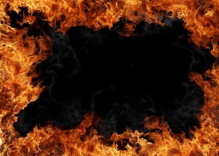 Fuego marco Foto de archivo