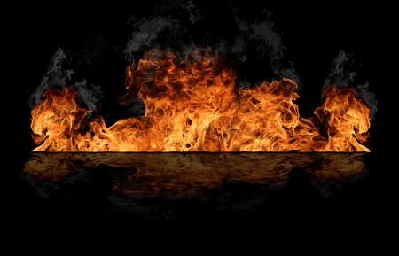 wild fire: Fire wall Stock Photo