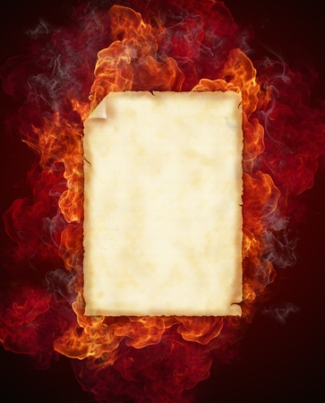 Burning fire frame  photo