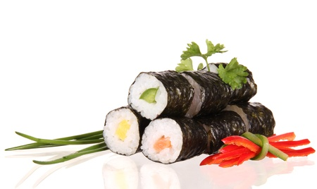 Sushi food on white background 版權商用圖片