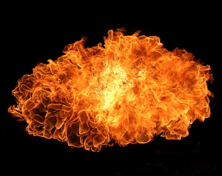 flametongue: Fire explosion Stock Photo