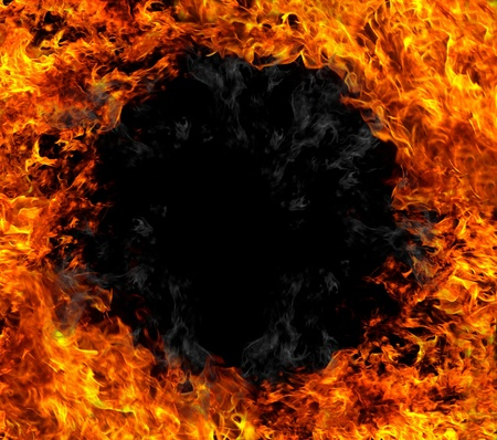 Fire black hole  Stock Photo - 12574507
