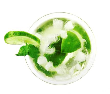 mojito: Mojito drink, top view