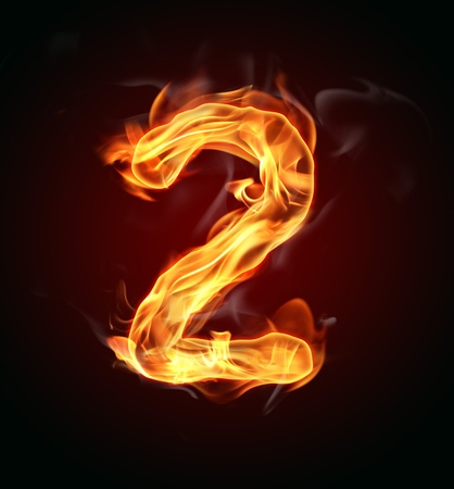 flame alphabet: Fire number