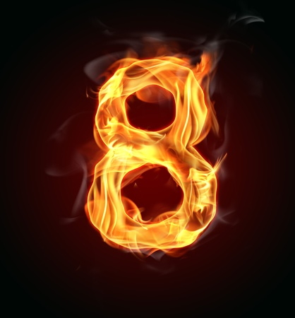 fire font: Fire number