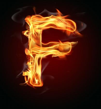 burning letter: Fire burning letter