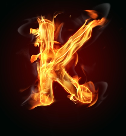 tongues of fire: Fire burning letter