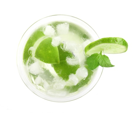 Mojito drink, top view photo