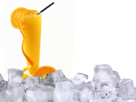 Orange fresh ice drink  photo