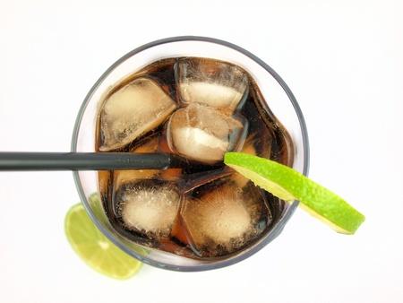 copa martini: Bebida de cola, vista desde arriba