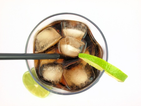 Cola drink, top view photo