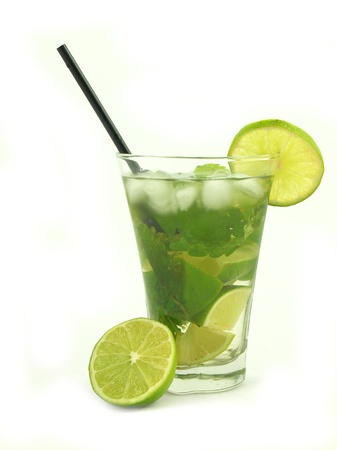Mojito drink on white background photo