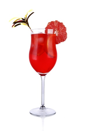 Fresh drink on white background photo