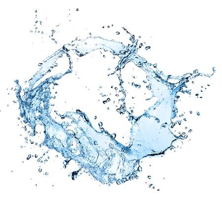 water splash isolated on white background: Water splash, isolated on white background Stock Photo