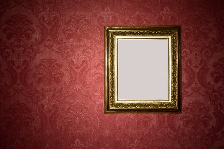 Abstract vintage blank image on patterned wall photo