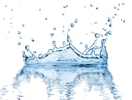 Water splash, isolated on white background Imagens