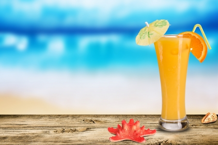 drink at the beach: Summer drink Stock Photo
