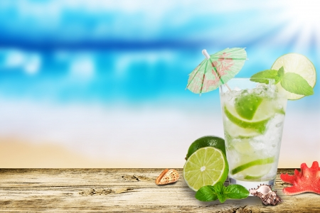 mohito: Summer drink Stock Photo