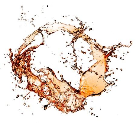 soda splash: Cola splash, isolated on white background