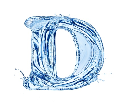 ice alphabet: Water letter, isolated on white background Stock Photo