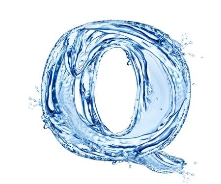 물결: 흰색 배경에 절연 물 문자 기호,