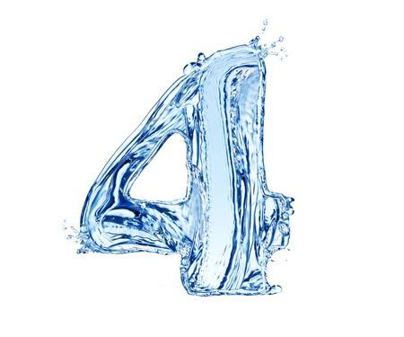 Water number made of splashes, isolated on white background Stock Photo - 13706396