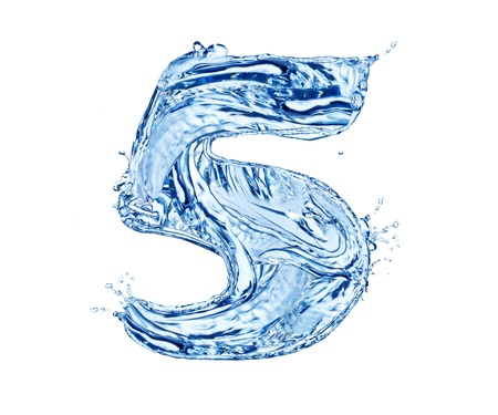 Water number made of splashes, isolated on white background Stock Photo - 13706398
