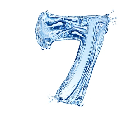 Water number made of splashes, isolated on white background Stock Photo - 13706394