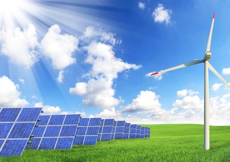 benign: Alternative energy sources Stock Photo