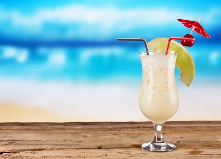 colada: Pina colada drink