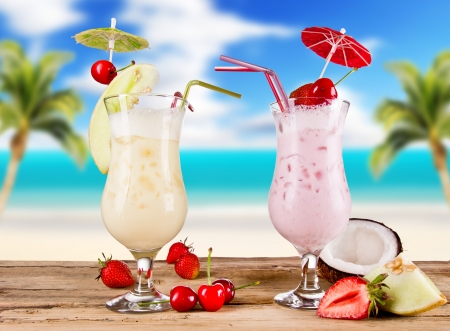 Pina colada drinks photo
