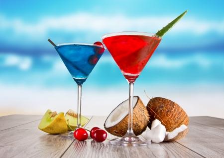 Summer martini drinks Reklamní fotografie