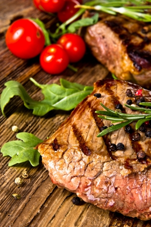beef meat: Grilled Steaks Stock Photo