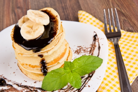 molted: Sweet pancakes with chocolate